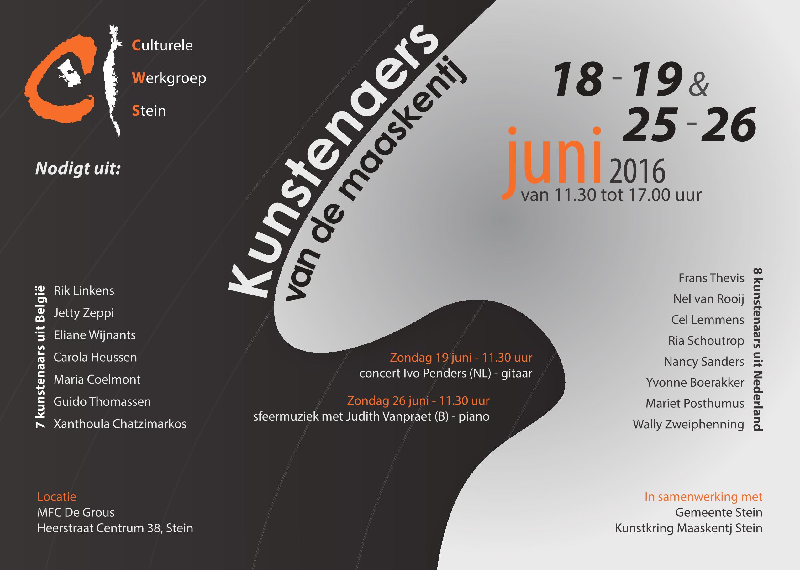2016 gastexposant bij Kunstenaars van de Maaskentj