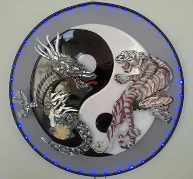 Wandobject - draak & tijger - in opdracht