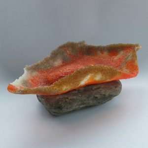 Pate de verre klein object - roodborst