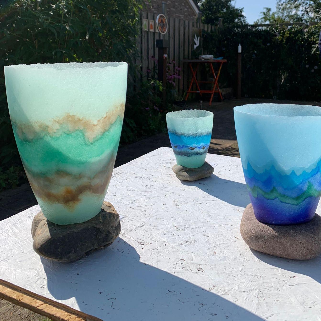 Maso I, II en III, pate de verre
